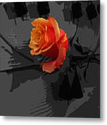 Rose IIi - A Message Metal Print