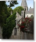 Rose Lane In Loches Metal Print