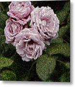 Rose Mosaic 1 Metal Print