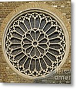 Rose Of The Cathedral Of San Giusto Metal Print