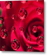 Rose Syrup Abstract 1 A Metal Print