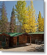 Rose Twin 1 And Twin 2 Cabins At The Holzwarth Historic Site Metal Print