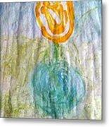 Rose Vase One Metal Print