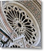 Rose Window Duomo Florence Metal Print