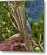 Roseate Spoonbill Art Metal Print