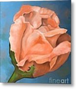 Rosebud Peaches And Cream Metal Print