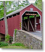 Rosehill Covered Bridge Metal Print