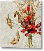 Rosehips And Grasses Metal Print
