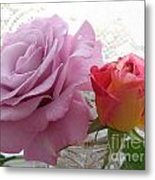Roses And Lace Metal Print