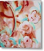 Roses And Rust Metal Print