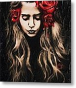 Roses Are Red Metal Print by Sheena Pike