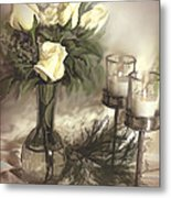 Roses Are Yellow Metal Print