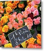 Roses At Flower Market Metal Print