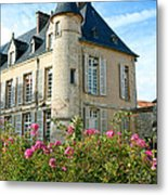 Roses At The Castle Metal Print by Olivier Le Queinec