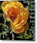 Roses Have Thorns Metal Print
