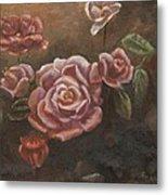 Roses In The Sun Metal Print by Elizabeth Lane