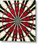 Roses Kaleidoscope Under Glass 17 Metal Print