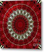 Roses Kaleidoscope Under Glass 18 Metal Print