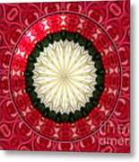 Roses Kaleidoscope Under Glass 19 Metal Print