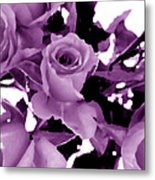 Roses - Lilac Metal Print