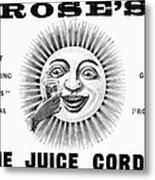 Roses Lime Juice Cordial Metal Print