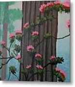 Roses On Misty Day Metal Print