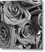 Roses On Your Wall Black And White  Metal Print