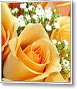 Roses Orange Blossoms Metal Print