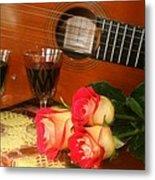 Guitar 'n Roses Metal Print