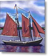 Roseway On Boston Harbor Metal Print