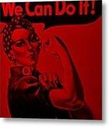 Rosie In Red Metal Print