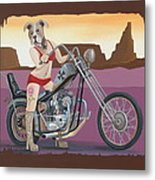 Rosie's Chopper Metal Print
