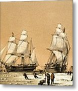 Ross Arctic Search Expedition, 1848-9 Metal Print by Science Photo Library