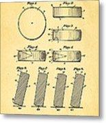 Ross Ice Hockey Puck Patent Art 1940 Metal Print