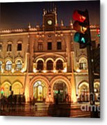 Rossio Train Station Metal Print