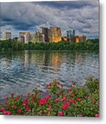 Rosslyn Virginia Sunset From Across The Potomac River Metal Print