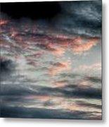 Rosy Clouds Metal Print
