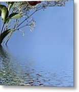 Rosy Reflection - Left Side Metal Print