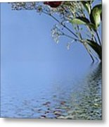 Rosy Reflection - Right Side Metal Print