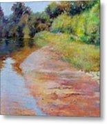 Rosy River Metal Print