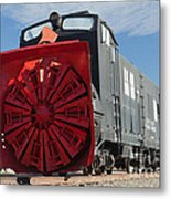 Rotary Snow Thrower 99201 In The Colorado Railroad Museum Metal Print
