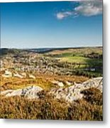 Rothbury Town From The Terraces Metal Print