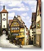 Rothenburg Marketplatz Metal Print