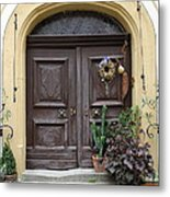 Rothenburg Ob Der Tauber Door  Metal Print