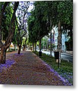 Rothschild Boulevard Metal Print by Ron Shoshani