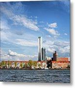 Rotterdam Skyline In Netherlands Metal Print