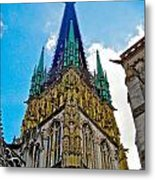 Rouen Church Steeple Metal Print