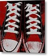 Rough And Red D Metal Print