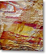 Rough And Red Rock In Petra-jordan  Metal Print