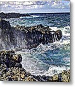 Rough Rocks Near Hana Metal Print